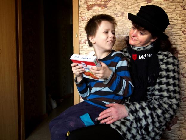 Ein Junge mit Irina