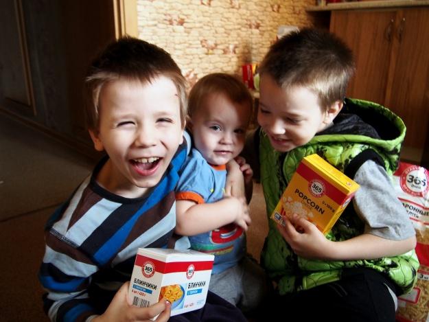 Dankbare Kinder