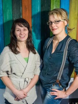 Der Vorstand unseres Elternbeirates: Katja Jäkel und Susann Kellermann